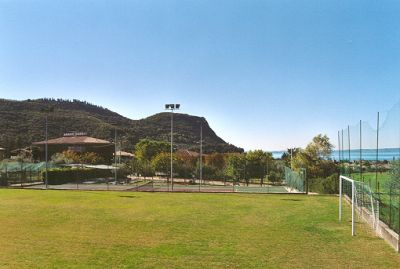 Footbal oval at Residence Villa Rosa, in Garda